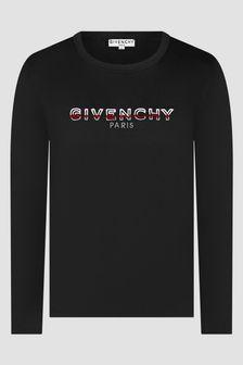 Givenchy Kids Girls Black T-Shirt