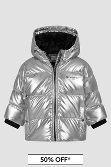Givenchy Kids Baby Girls Silver Jacket