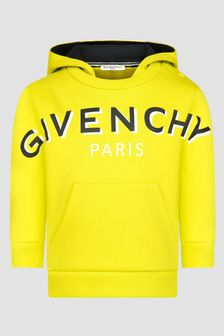 Givenchy Kids Baby Boys Yellow Hoodie