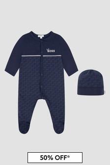Boss Kidswear Baby Boys Navy Sleepsuit