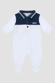 Boss Kidswear Baby Boys Blue Sleepsuit