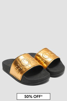 Boss Kidswear Boys Black Sandals