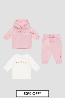 Marc Jacobs Baby Girls Pink Tracksuit