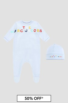 Marc Jacobs Baby Boys Blue Sleepsuit
