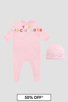 Marc Jacobs Baby Girls Pink Sleepsuit