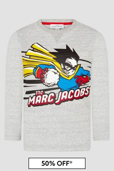 Marc Jacobs Boys Grey T-Shirt