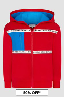 Marc Jacobs Boys Red Sweat Top