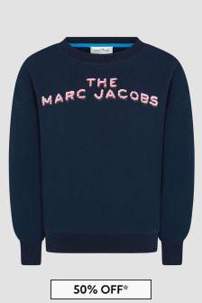 Marc Jacobs Girls Navy Sweat Top