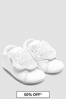Kenzo Kids Baby Boys White Shoes