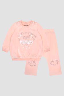 Kenzo Kids Baby Girls Pink Tracksuit