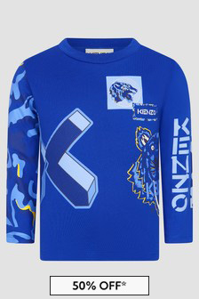 Kenzo Kids Boys Blue T-Shirt