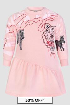 Kenzo Kids Baby Girls Pink Dress