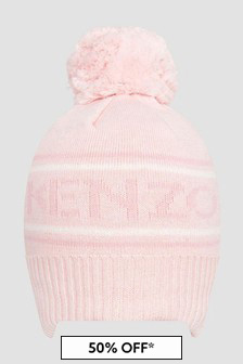 Kenzo Kids Baby Girls Pink Hat