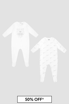 Kenzo Kids White Babygrow Gift Set