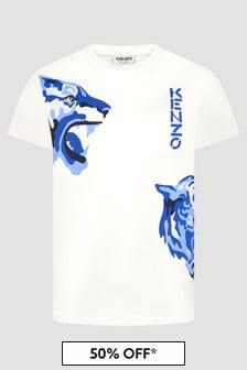 Kenzo Kids Boys White T-Shirt