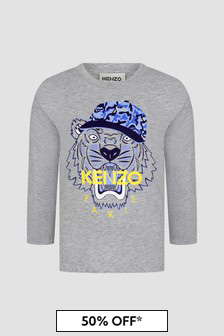 Kenzo Kids Boys Grey T-Shirt