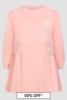 Kenzo Kids Girls Pink Dress