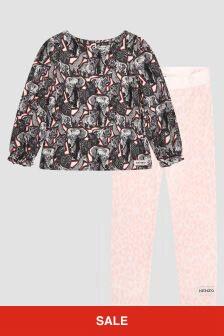 Kenzo Kids Baby Girls Pink Set