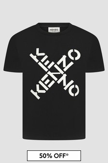 Kenzo Kids Girls Black T-Shirt