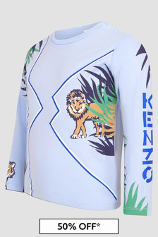 Kenzo Kids Baby Boys Blue T-Shirt