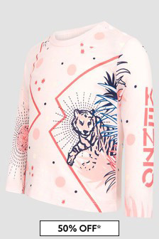 Kenzo Kids Baby Girls Pink T-Shirt