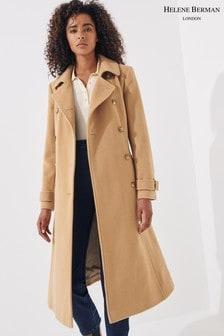 Helene Berman Camel Wool Trench Coat