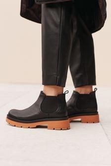 Signature Coloured Sole Mini Chelsea Boots