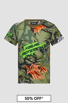 Diesel Baby Boys Khaki T-Shirt