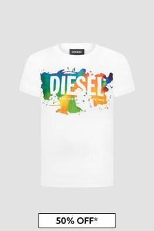 Diesel Boys White T-Shirt