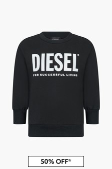 Diesel Boys Black Sweat Top