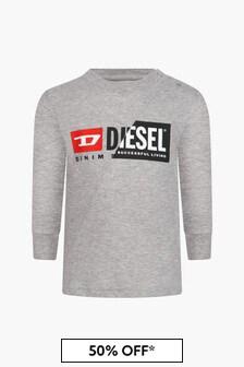 Diesel Baby Boys Grey T-Shirt