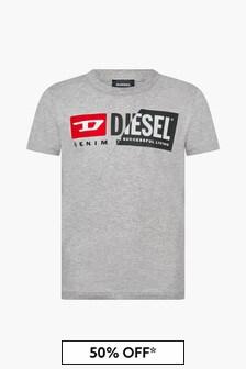Diesel Boys Grey T-Shirt