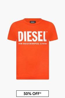 Diesel Boys Red T-Shirt