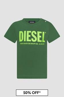 Diesel Baby Boys Green T-Shirt
