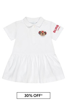 Burberry Kids White Dress