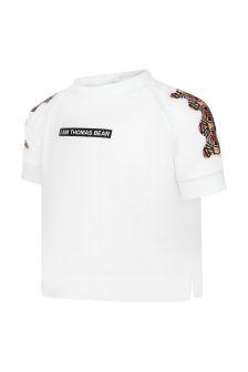 Burberry Kids Baby Girls White T-Shirt