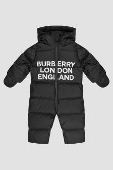Burberry Kids Baby Black Snowsuit