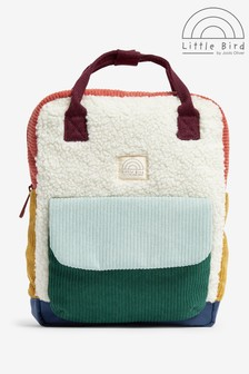 Little Bird Multi Colourblock Borg Backpack