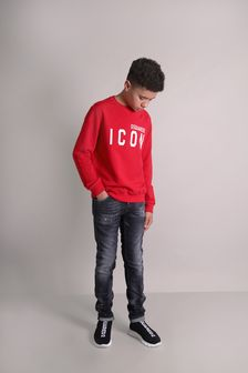 Dsquared2 Kids Boys Red Sweat Top