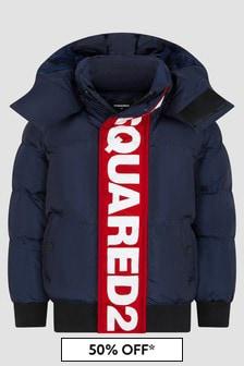 Dsquared2 Kids Boys Navy Jacket