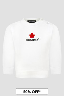 Dsquared2 Kids Baby Boys White Sweat Top