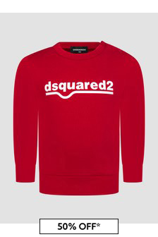 Dsquared2 Kids Baby Boys Red Sweat Top