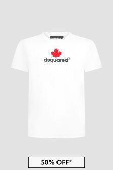 Dsquared2 Kids Boys White T-Shirt