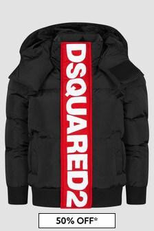 Dsquared2 Kids Boys Black Jacket