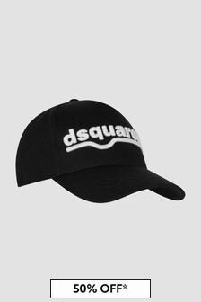 Dsquared2 Kids Boys Black Hat