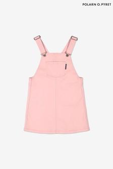 Polarn O. Pyret Pink Organic Cotton Pinafore Dress