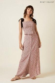Mint Velvet Red Amelia Print Floral Maxi Skirt