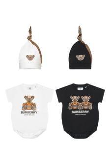 Burberry Kids Baby White Bodysuit