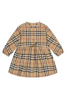 Burberry Kids Baby Beige Dress