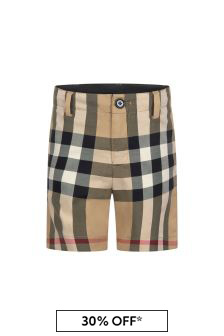 Burberry Kids Beige Shorts